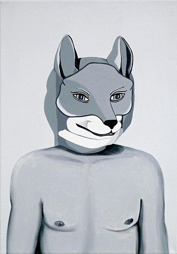 Kora Junger – o. T., 50 x 35 cm, acryl on canvas, 2006