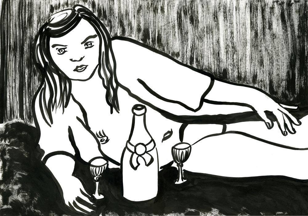Kora Junger – #001_03_11_1141, 42 x 59,4 cm, ink on paper, 2011