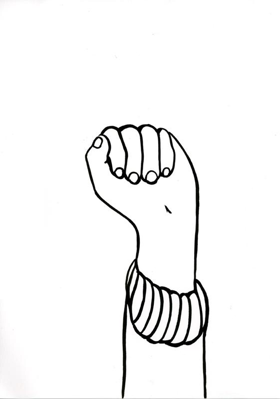 Kora Junger – #001_10_11_1148, 29,7 x 21 cm, ink on paper, 2011