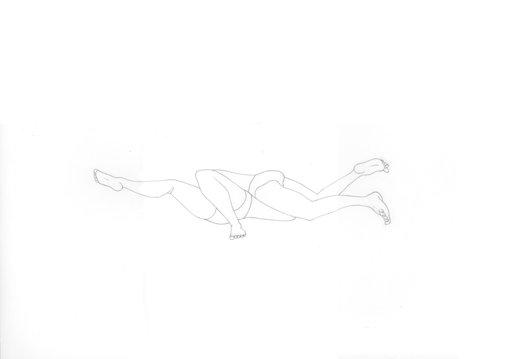 Kora Junger – #001_04_11_1142, 29,7 x 42 cm, pencil on paper, 2012