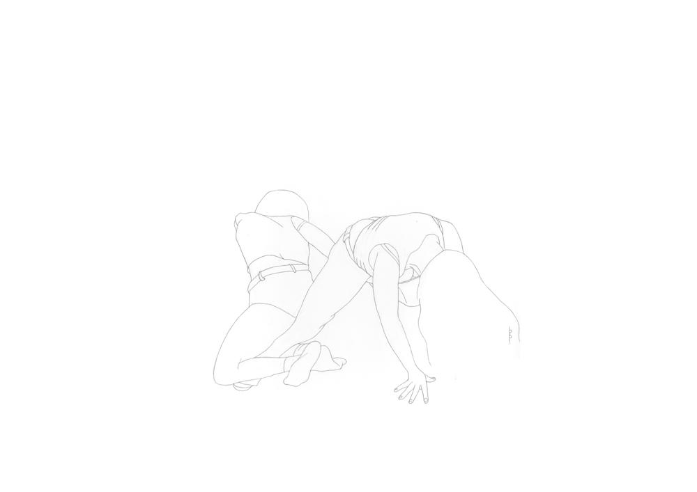 Kora Junger – #003_02_11_1170, 29,7 x 42 cm, pencil on paper, 2012