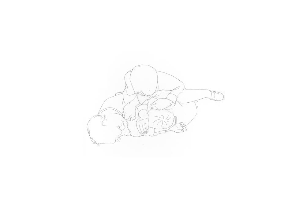 Kora Junger – #003_04_11_1172, 29,7 x 42 cm, pencil on paper, 2012