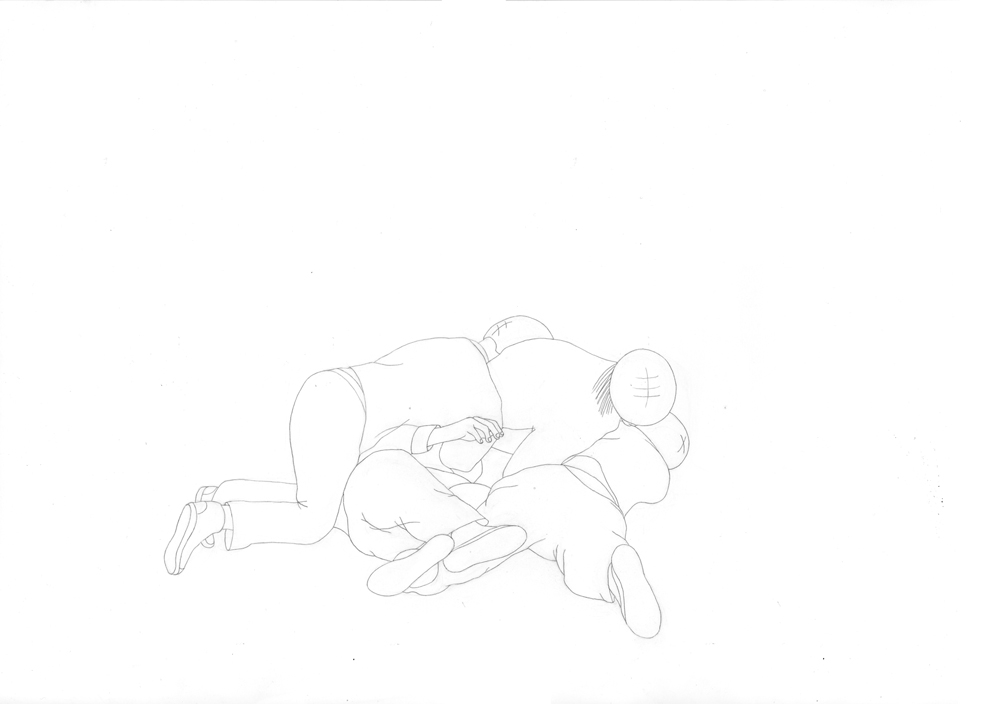 Kora Junger – #003_05_11_1173, 29,7 x 42 cm, pencil on paper, 2012