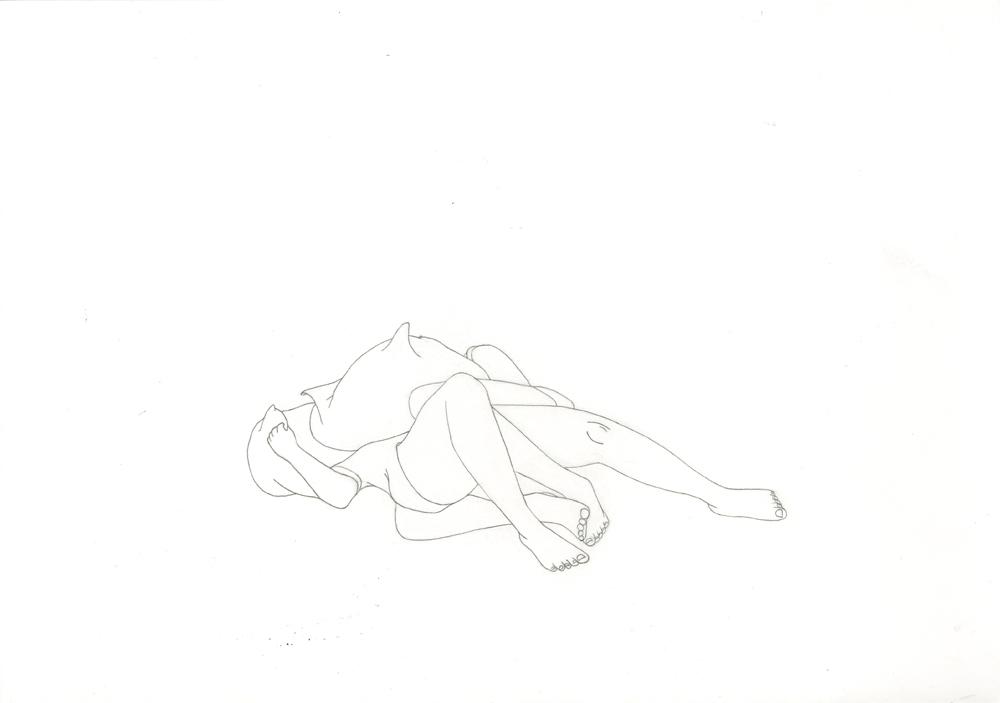 Kora Junger – #003_06_11_1174, 29,7 x 42 cm, pencil on paper, 2012