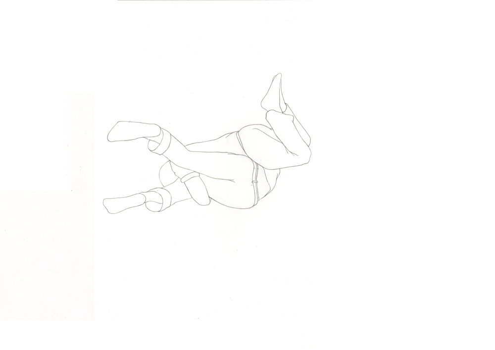 Kora Junger – #003_07_11_1175, 29,7 x 42 cm, pencil on paper, 2012