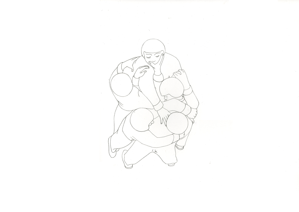 Kora Junger – #003_08_11_1176, 29,7 x 42 cm, pencil on paper, 2012