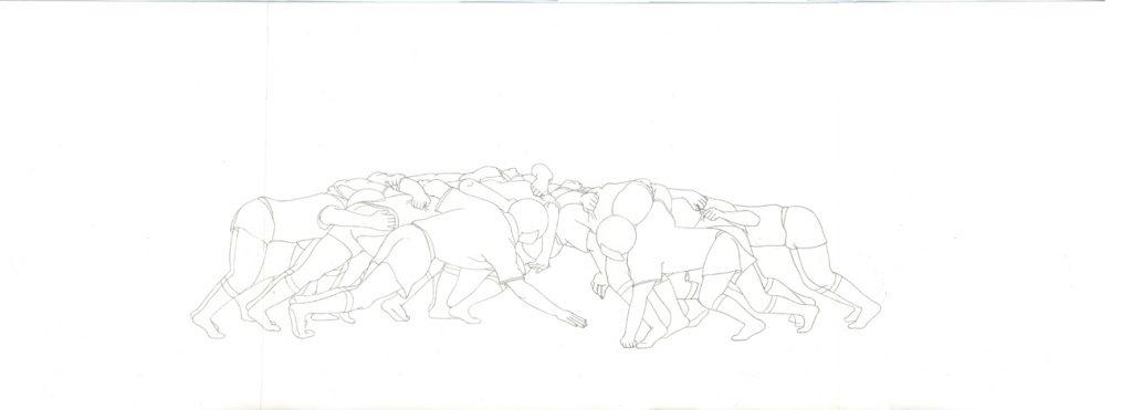 Kora Junger – #003_09_11_1177, 29,7 cm x 70 cm, pencil on paper, 2012