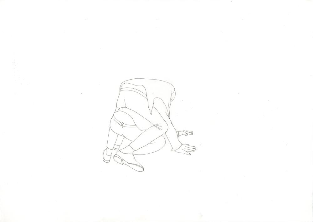 Kora Junger – #003_12_11_1180, 29,7 x 42 cm, pencil on paper, 2012