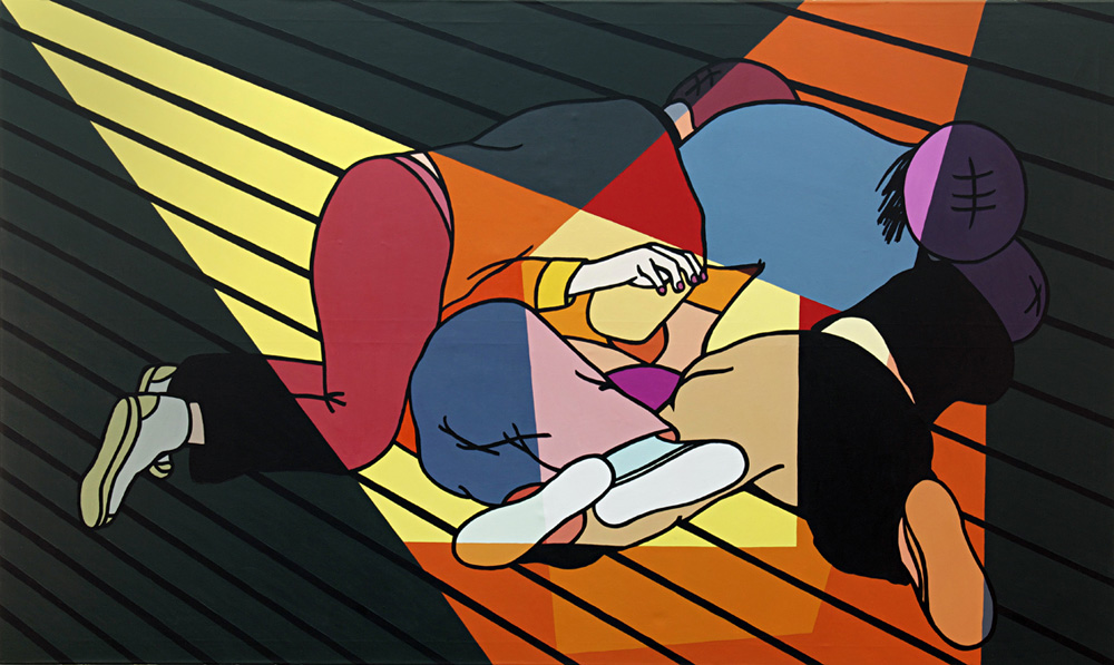 Kora Junger – o. T., 120 x 200 cm, acryl on canvas, 2011