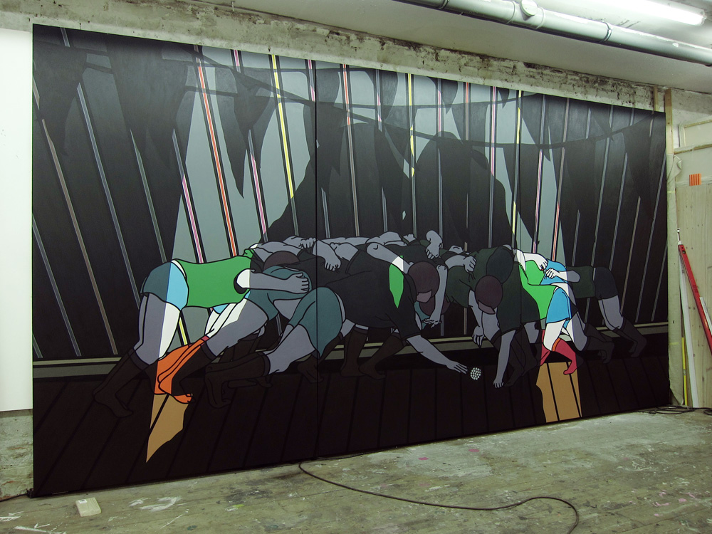 o. T., 250 x 480 cm, acryl on canvas, 2012