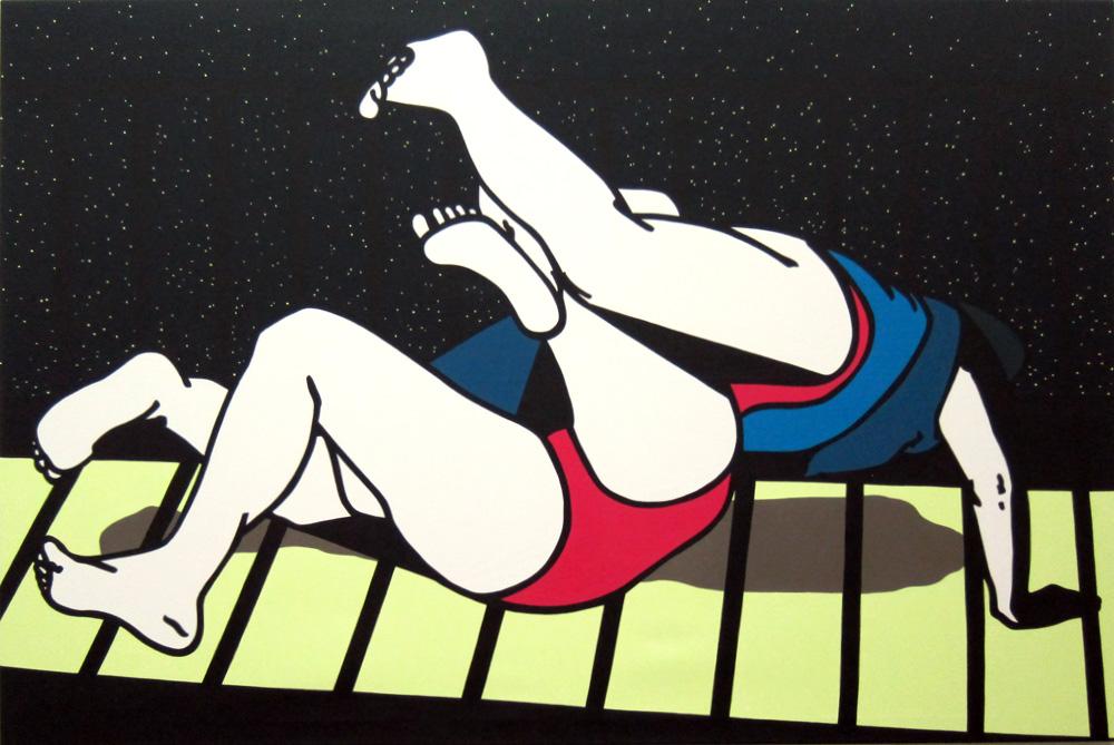 Kora Junger – o. T., 120 x 180 cm, acryl on canvasKora Junger – o. T., 120 x 180 cm, acryl on canvas