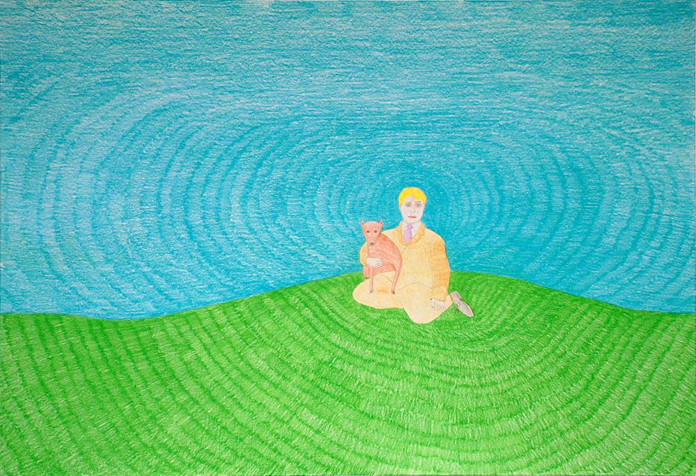 "Kora Junger – Washington DC #03, 44 x 64 cm, color pencil on paper, 2003"""
