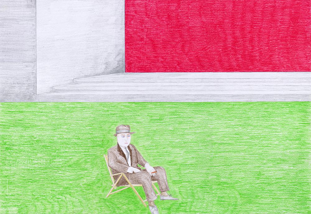Hostage Crisis #03, color pencil on paper, 44 x 64 cm, 2003