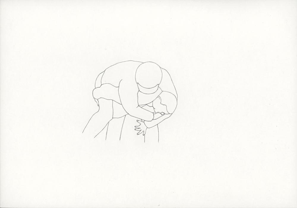 Kora Junger – #001_01_06_829, 21 x 29,7 cm, pencil on paper, 2006