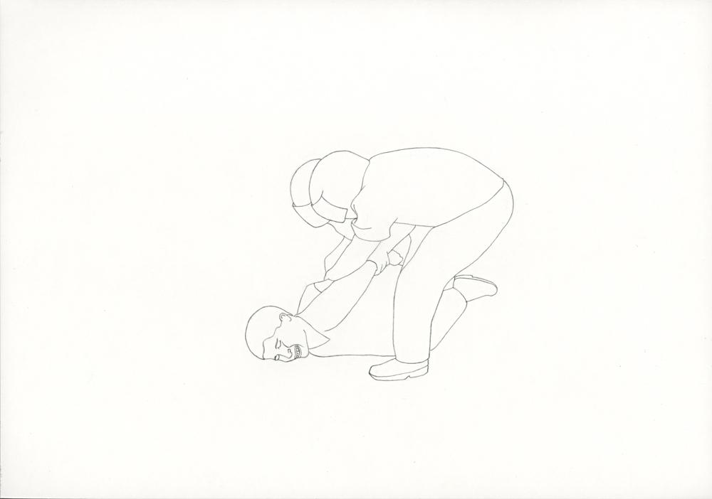 Kora Junger – #001_02_06_830, 21 x 29,7 cm, pencil on paper, 2006