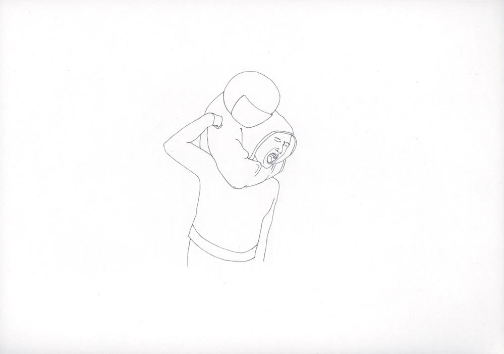 Kora Junger – #019_01_05_822, 21 x 29,7 cm, pencil on paper, 2005