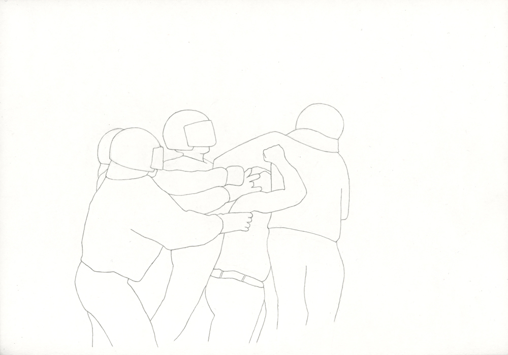 Kora Junger – Bullen #02, 21 x 29,7 cm, pencil on paper, 2005