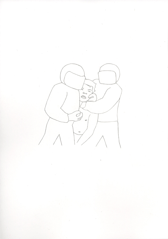 Kora Junger – Bullen #03, 21 x 29,7 cm, pencil on paper, 2005