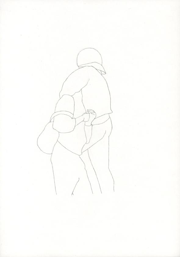 Kora Junger – Bullen #04, 21 x 29,7 cm, pencil on paper, 2005