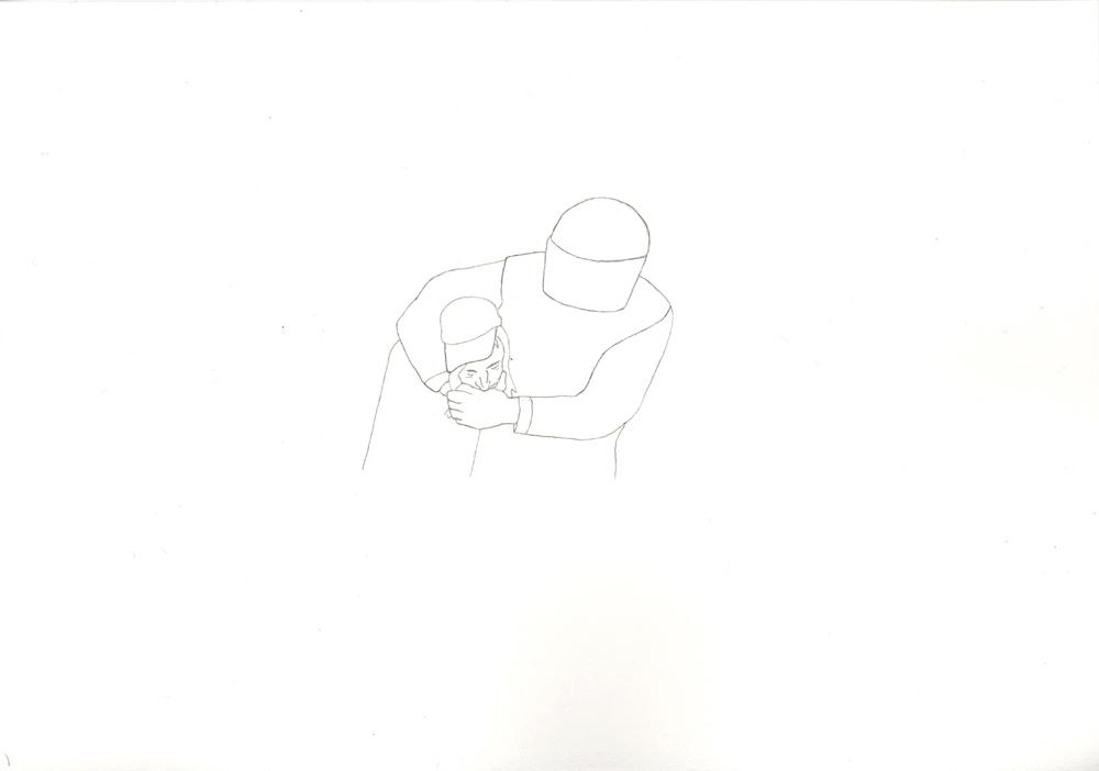 Kora Junger – Bullen #05, 21 x 29,7 cm, pencil on paper, 2005