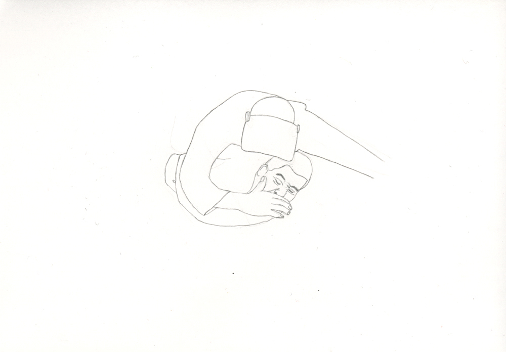 Kora Junger – Bullen #08, 21 x 29,7 cm, pencil on paper, 2005