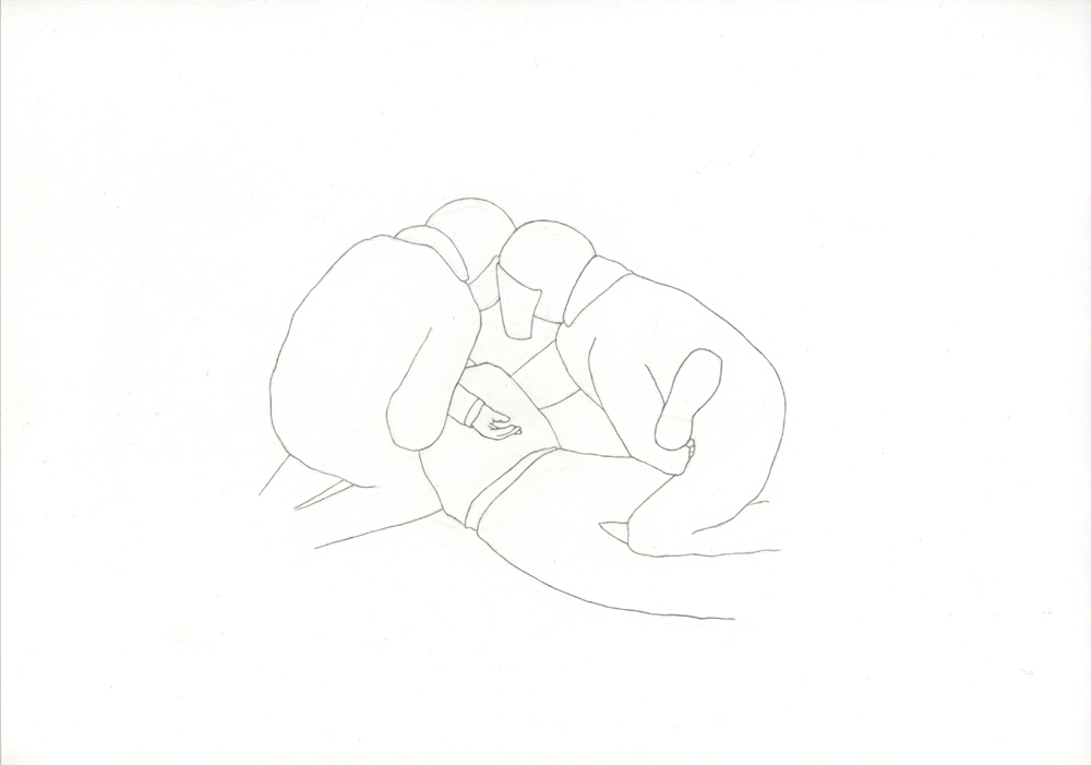 Kora Junger – Bullen #09, 21 x 29,7 cm, pencil on paper, 2005
