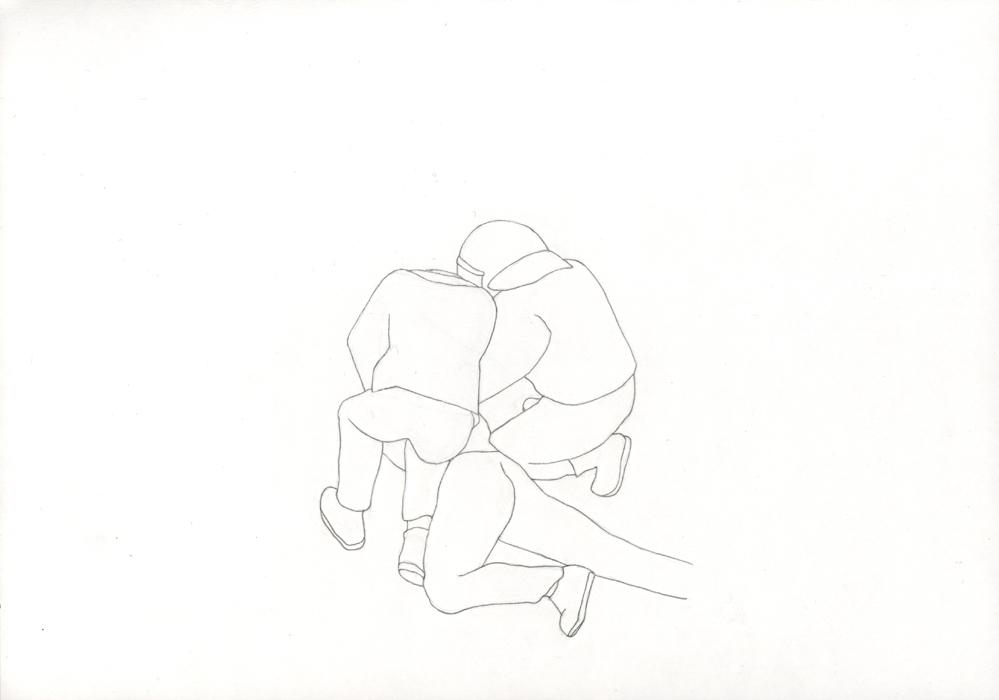 Kora Junger – Bullen #10, 21 x 29,7 cm, pencil on paper, 2005
