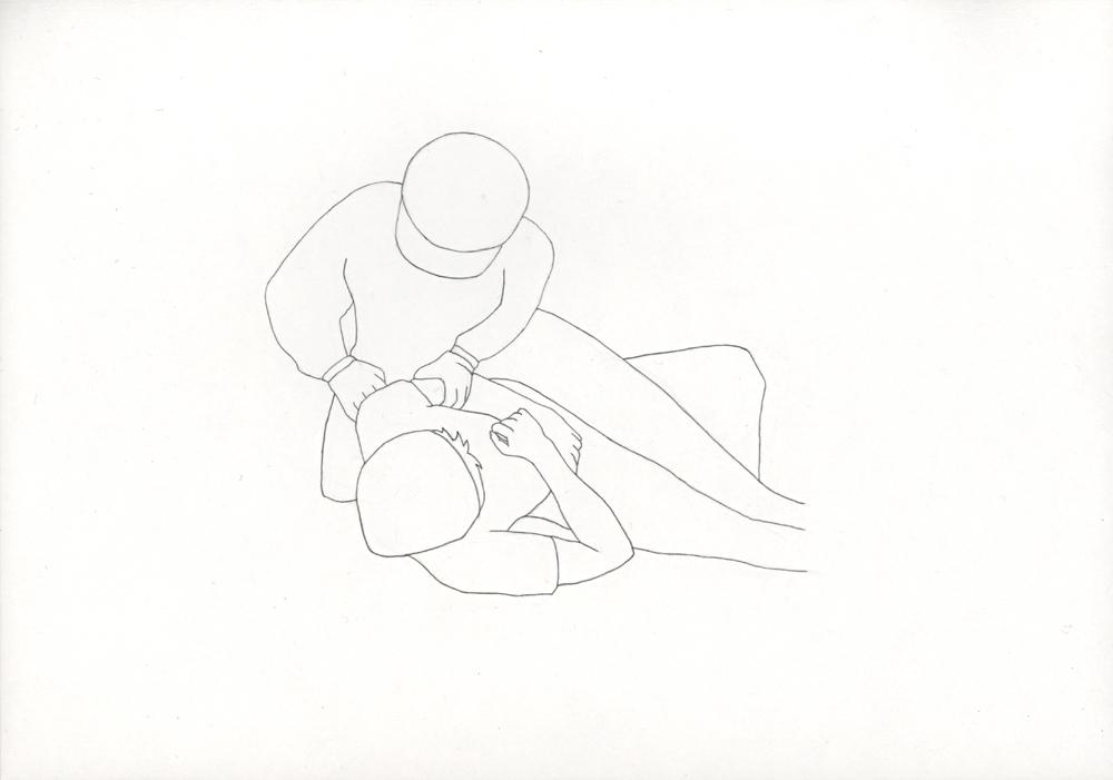 Kora Junger – Bullen #11, 21 x 29,7 cm, pencil on paper, 2005