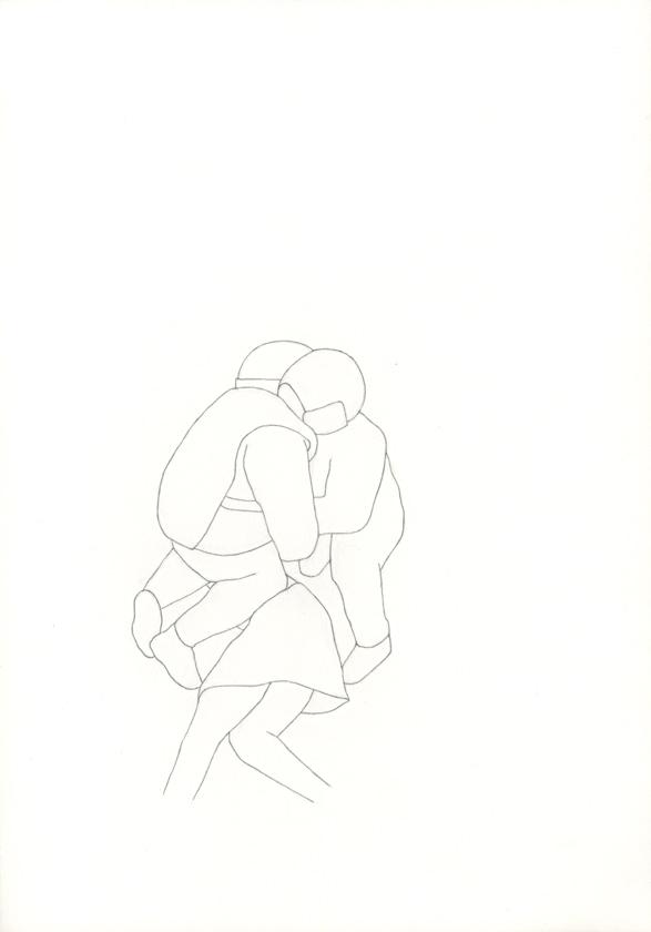 Kora Junger – Bullen #14, 21 x 29,7 cm, pencil on paper, 2005