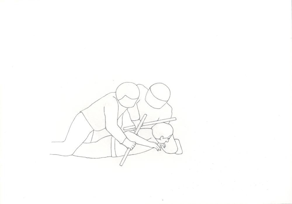 Kora Junger – Bullen #15, 21 x 29,7 cm, pencil on paper, 2005