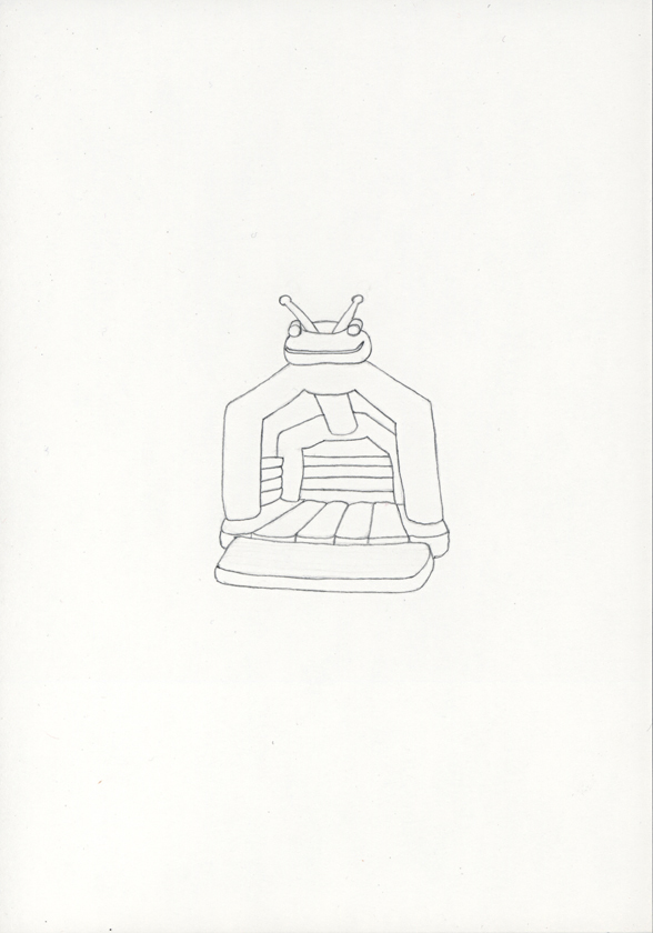 Kora Junger – »Hüpfburgen« #011_06_05_789, 21 x 14,8 cm, pencil on paper, 2005