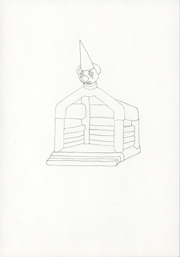 Kora Junger – »Hüpfburgen« #011_01_05_784, 21 x 14,8 cm, pencil on paper, 2005