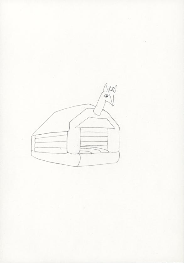 Kora Junger – »Hüpfburgen« #011_10_05_793, 21 x 14,8 cm, pencil on paper, 2005