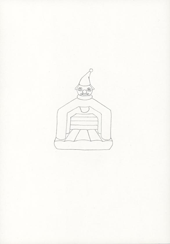 Kora Junger – »Hüpfburgen« #011_09_05_792, 21 x 14,8 cm, pencil on paper, 2005