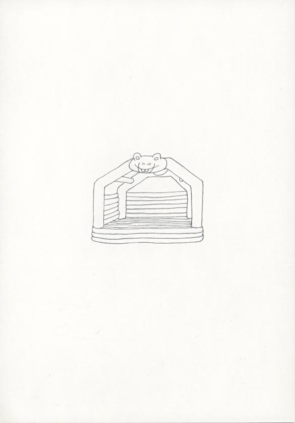 Kora Junger – »Hüpfburgen« #011_08_05_791, 21 x 14,8 cm, pencil on paper, 2005