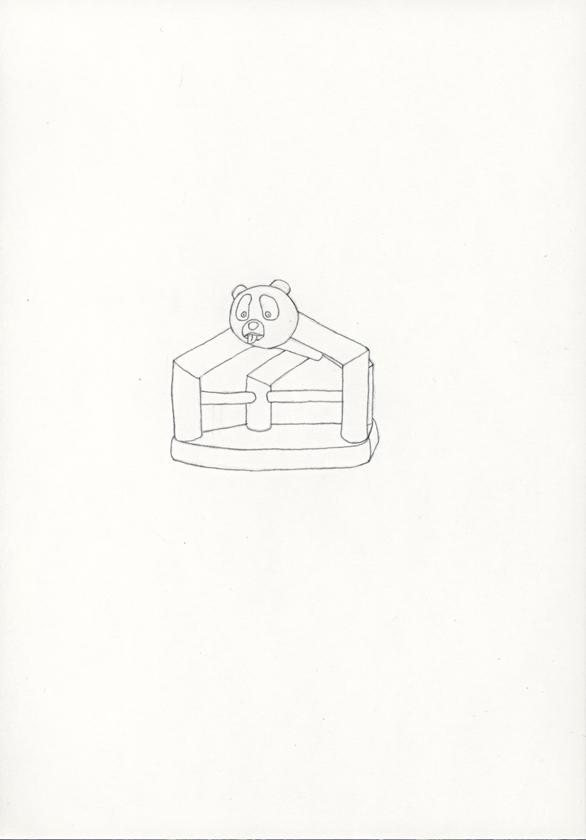 Kora Junger – »Hüpfburgen« #011_07_05_790, 21 x 14,8 cm, pencil on paper, 2005