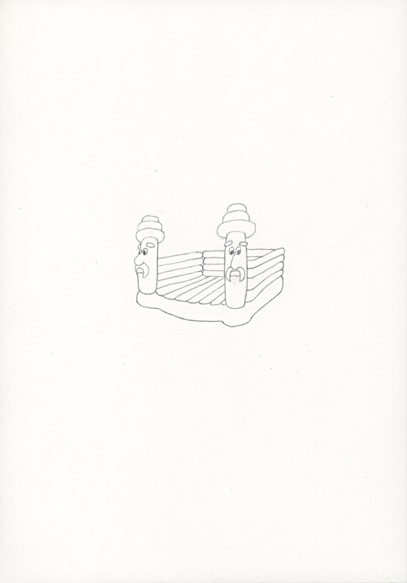 Kora Junger – »Hüpfburgen« #011_05_05_788, 21 x 14,8 cm, pencil on paper, 2005