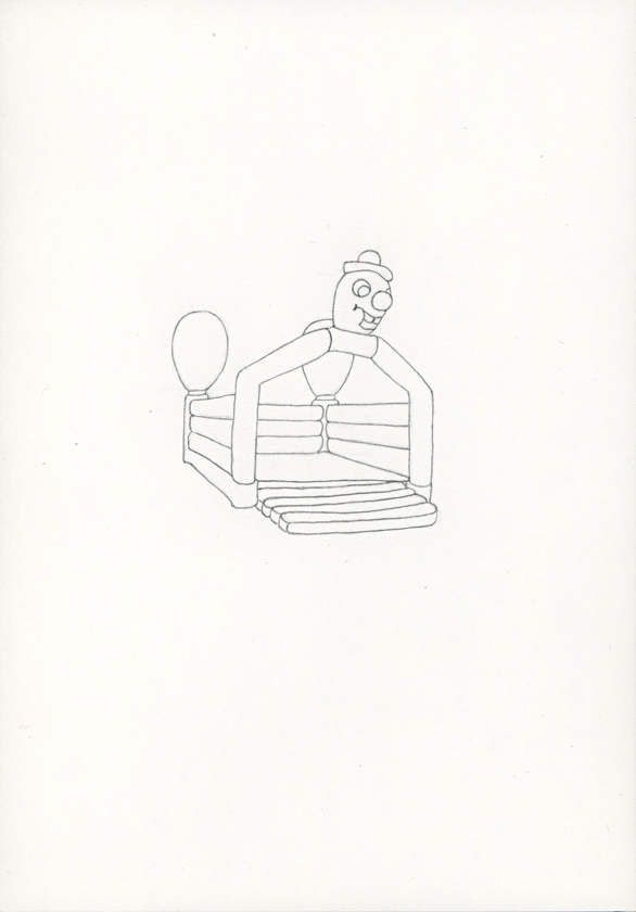 Kora Junger – »Hüpfburgen« #011_04_05_787, 21 x 14,8 cm, pencil on paper, 2005