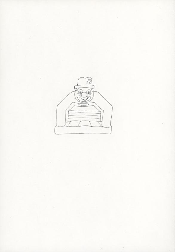 Kora Junger – »Hüpfburgen« #011_03_05_786, 21 x 14,8 cm, pencil on paper, 2005