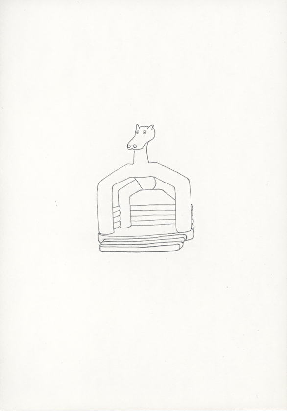 Kora Junger – Hüpfburgen« #011_02_05_785, 21 x 14,8 cm, pencil on paper, 2005