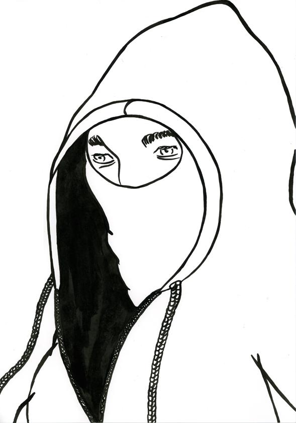 Kora Junger – #002_05_11_1154, 29,7 x 21 cm, ink on paper, 2011