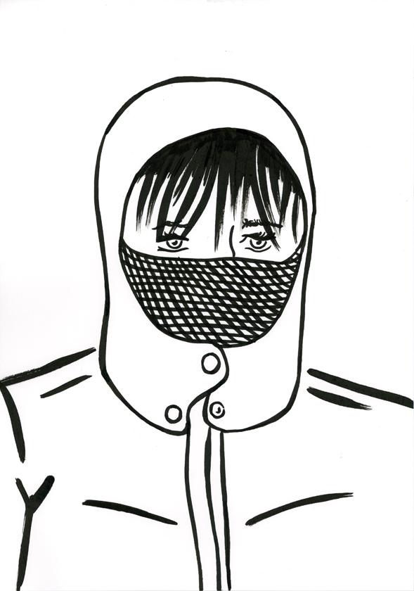 Kora Junger – #002_11_11_1160, 29,7 x 21 cm, ink on paper, 2011