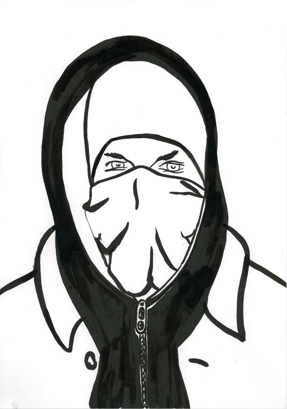 Kora Junger – #002_15_11_1164, 29,7 x 21 cm, ink on paper, 2011