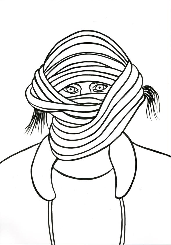 Kora Junger – #002_19_11_1168, 29,7 x 21 cm, ink on paper, 2011