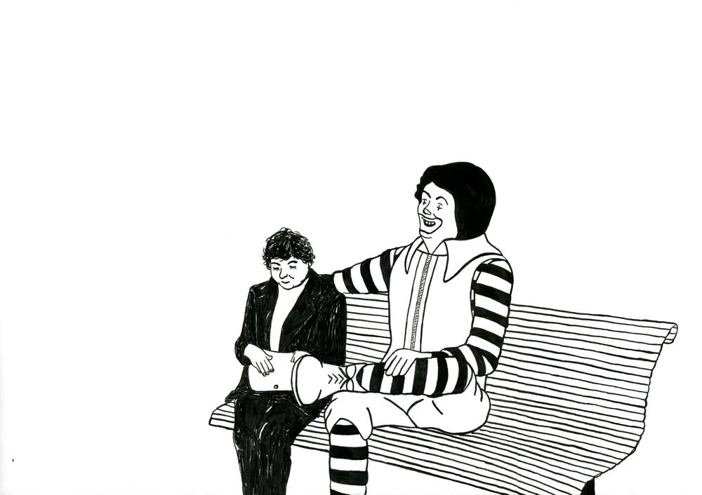 Kora Junger – Ronald #03, 29,7 x 42 cm, ink on paper, 2006