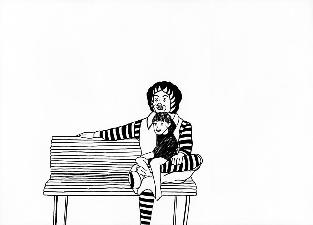 Kora Junger – Ronald #04, 29,7 x 42 cm, ink on paper, 2006