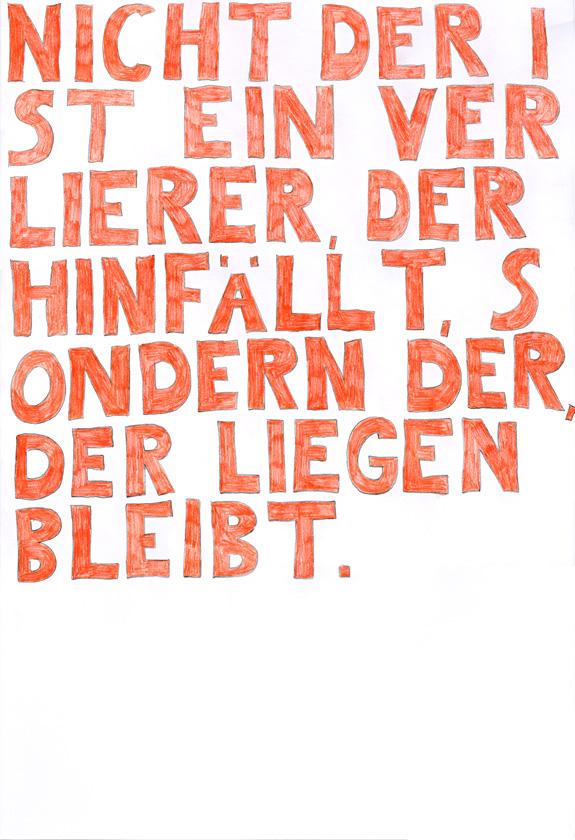 Kora Junger – words to remember #03, 64 x 44 cm, color pencil on paper, 2003