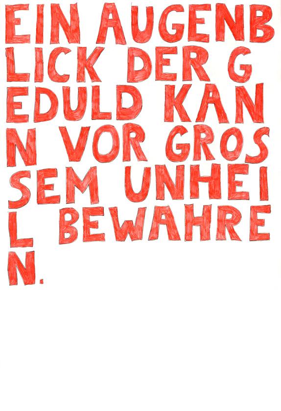 Kora Junger – words to remember #05, 64 x 44 cm, color pencil on paper, 2003