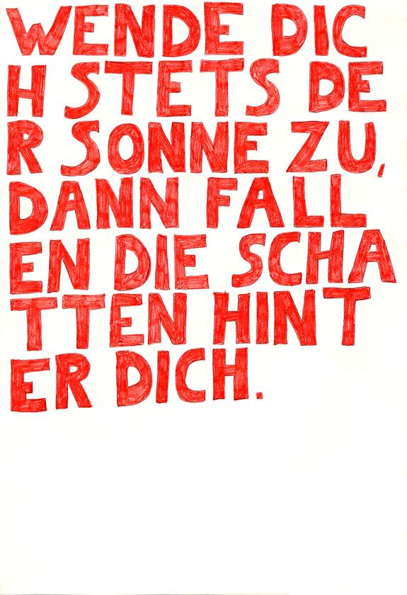 Kora Junger – words to remember #07, 64 x 44 cm, color pencil on paper, 2003